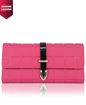 Genuine Leather Wallet - Fuschia