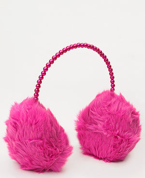 Fluffy Earmuffs  - Fuschia