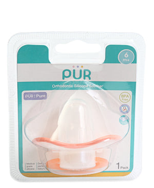 Infants Silicone Soother - Orange