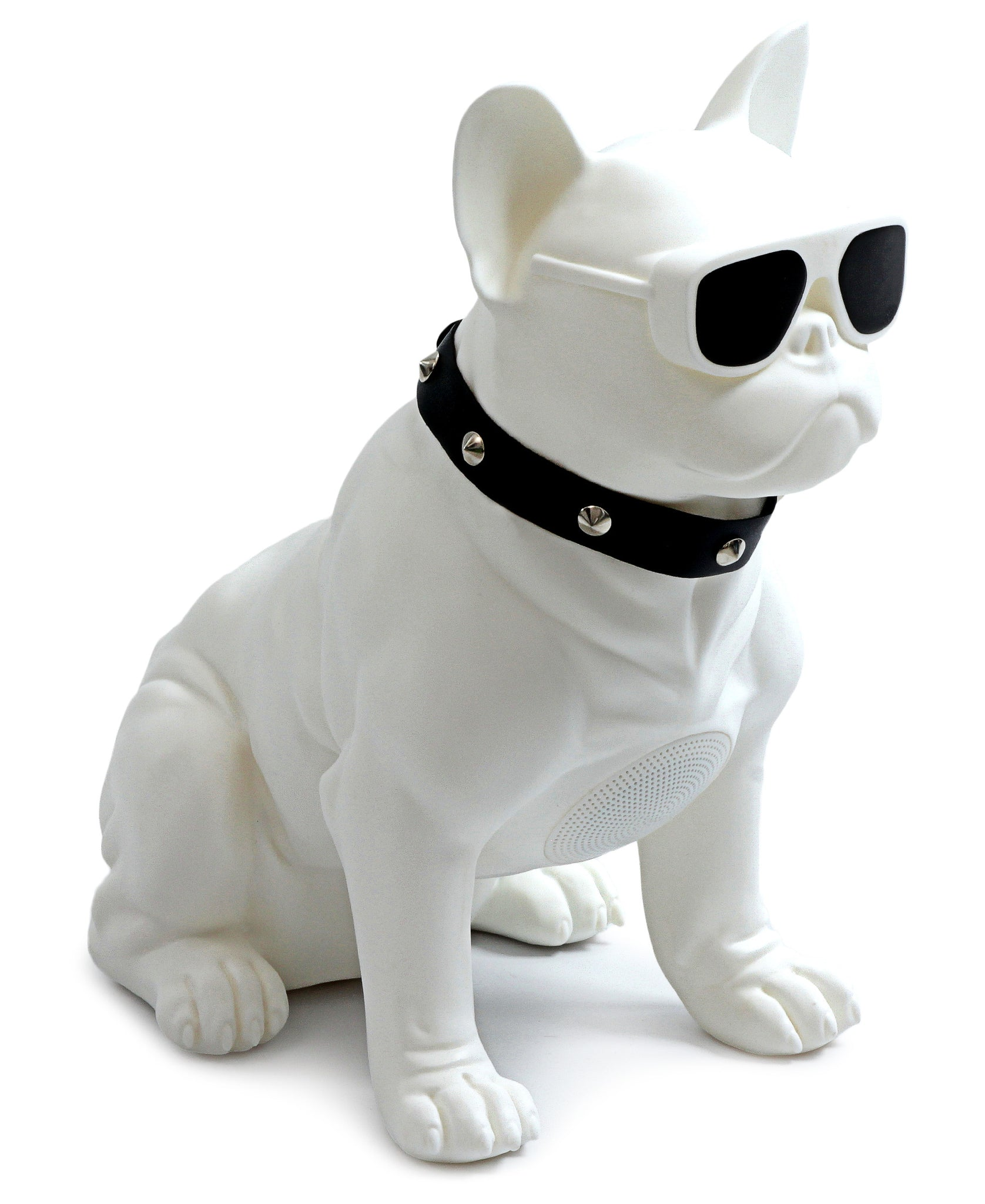 French Bulldog Bluetooth Speaker - White