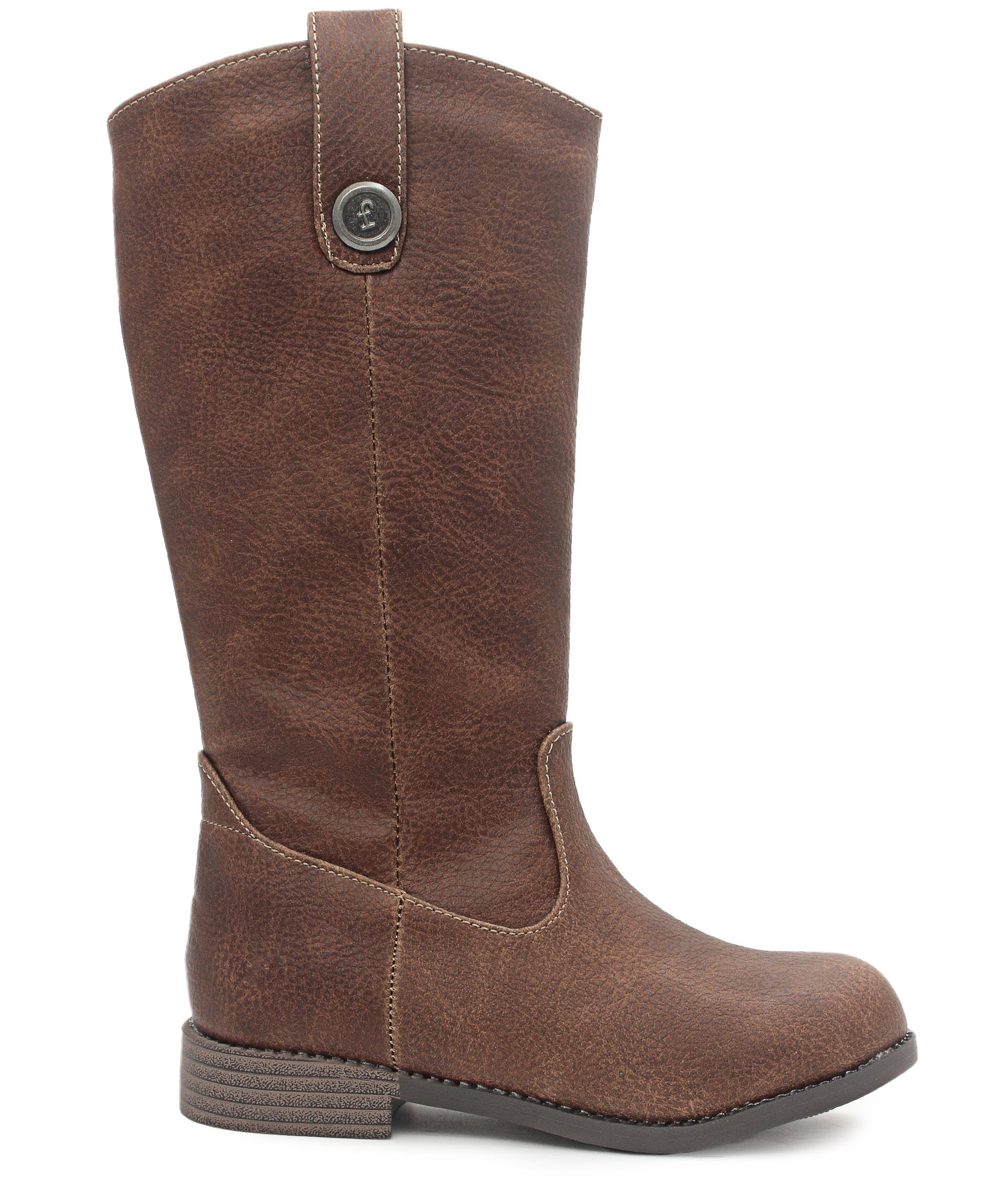 Girls Long Boots - Brown