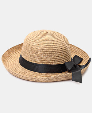 Bucket Straw Hat - Choc