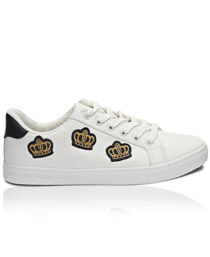 Men's Crowns Sneakers - White