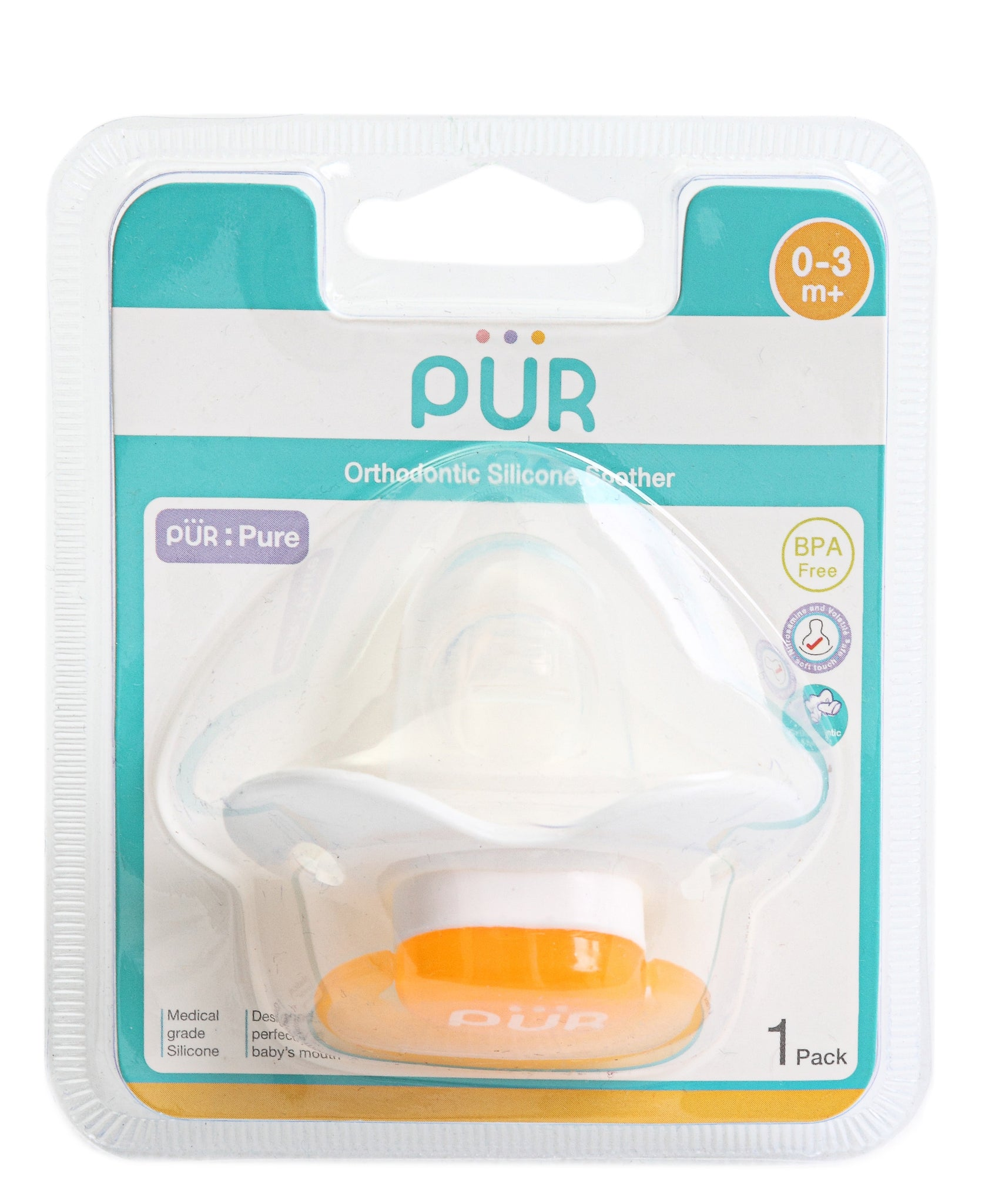 Newborns' Silicone Soother - Yellow
