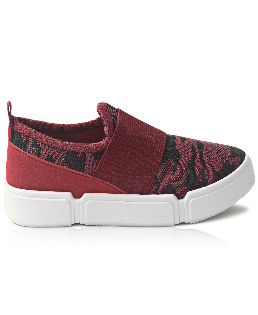 Kids Sneakers - Burgundy