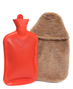 Hot Water Bottle With Cover - Taupe