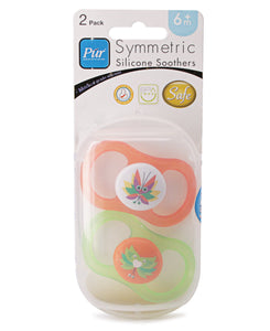 Infants 2 Pack Silicone Soothers - Green