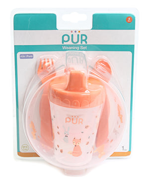 Babies' Cutlery & Cup Set - Orange