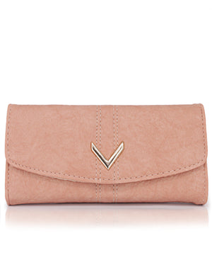 Fold Over Wallet - Peach