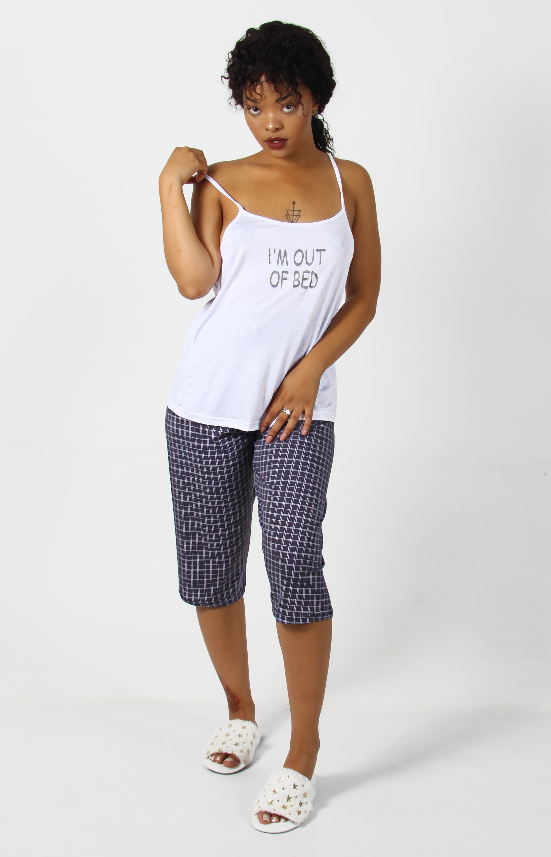 Strappy Pyjama Set - White - planet54.com
