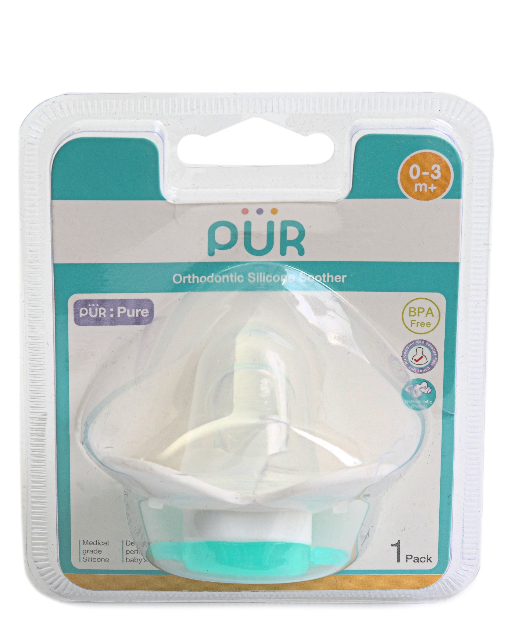 Newborns' Silicone Soother - Green