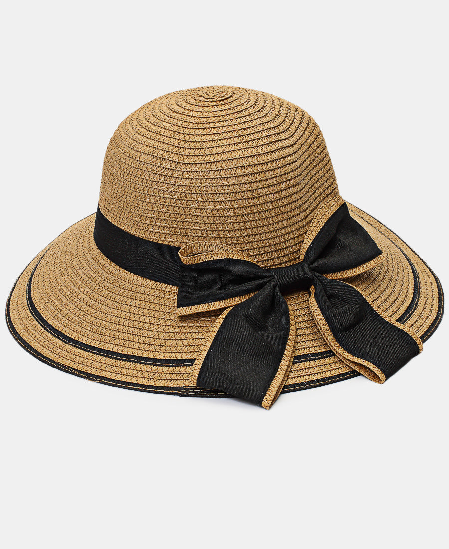 Bucket Straw Hat - Taupe