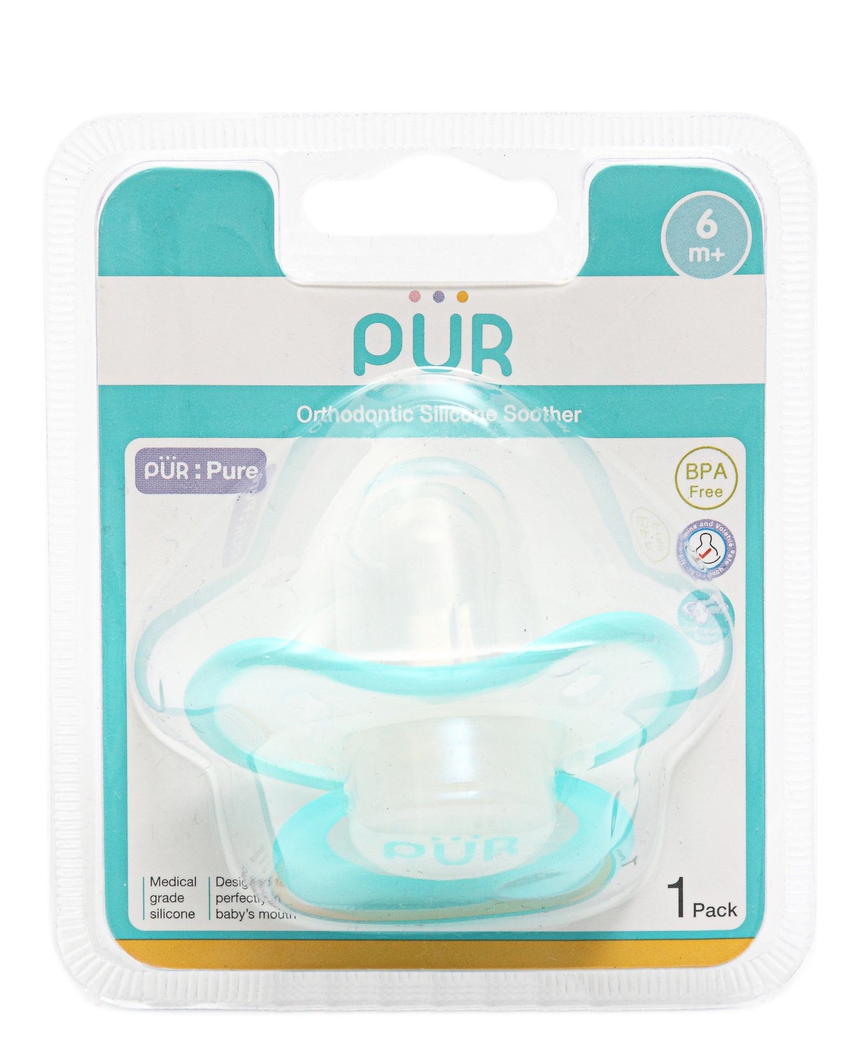 Infants Silicone Soother - Green