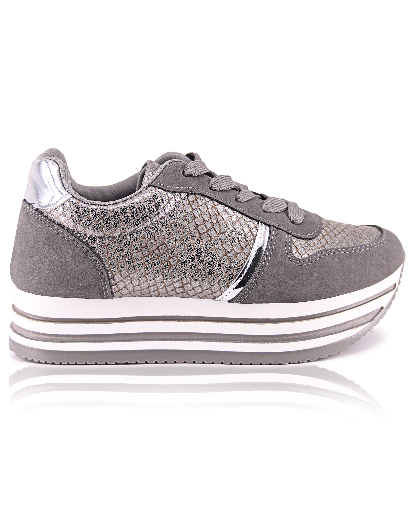 Ladies' Rock Snake Metallic - Grey