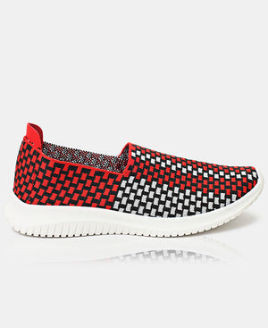 Ladies' Casual Sneakers - Red