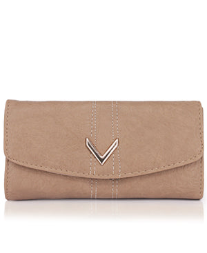 Fold Over Wallet - Taupe