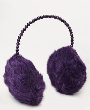 Fluffy Earmuffs  - Purple