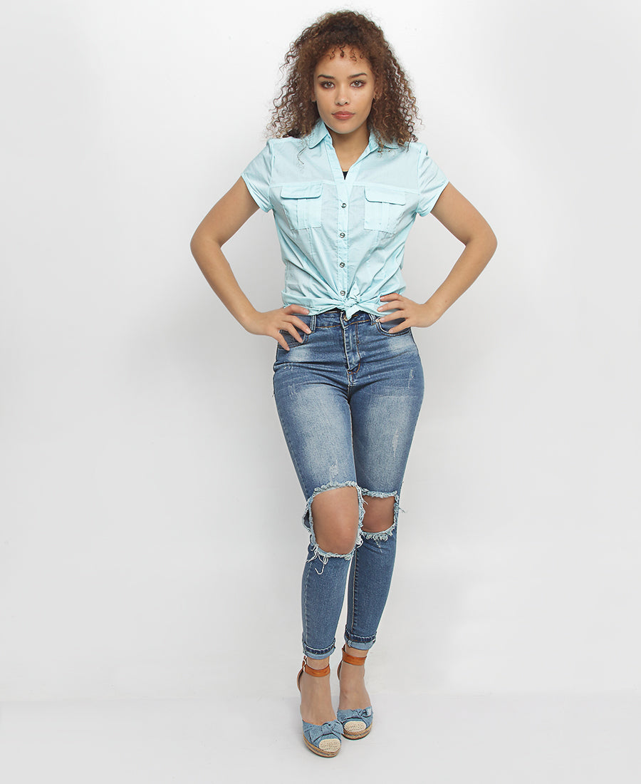 Short Sleeve Shirt - Blue