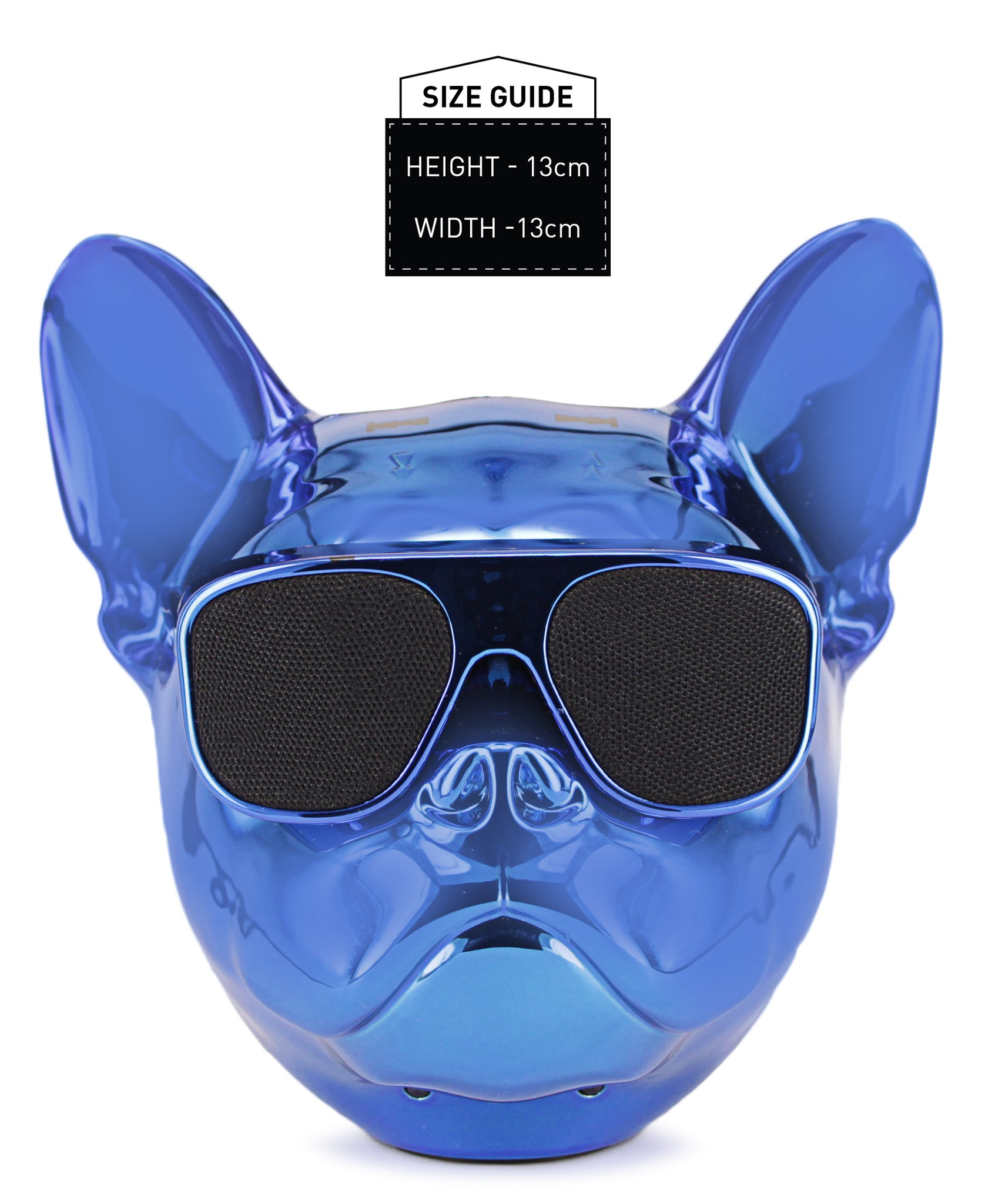 Dog Head Bluetooth Speaker - Blue
