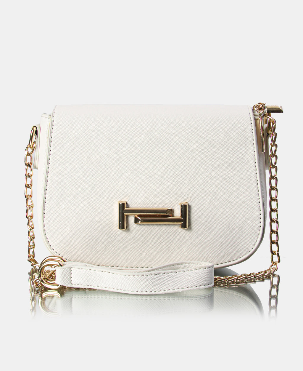 Small Structured Crossbody Bag - White