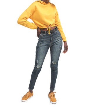 Cropped Sweater - Yellow