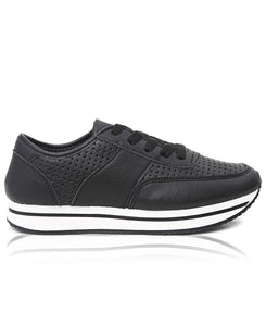 Ladies' Rock Low Punch Sneakers - Black