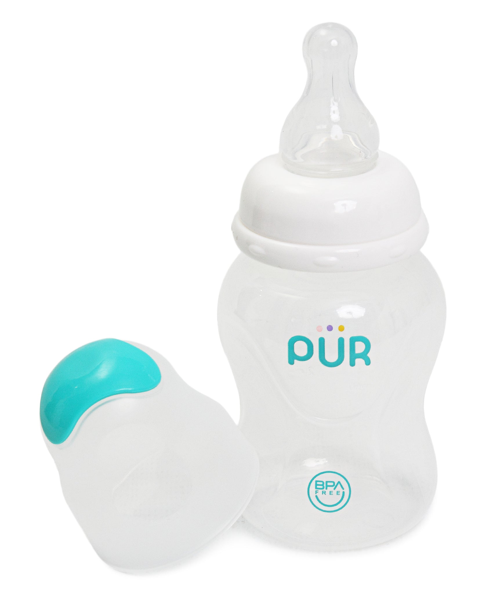 Slow Flow Feeding Bottle - White