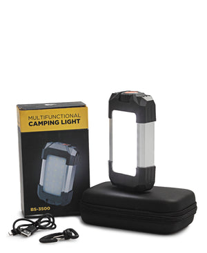 Multifunctional Camping Light Power Bank - Black