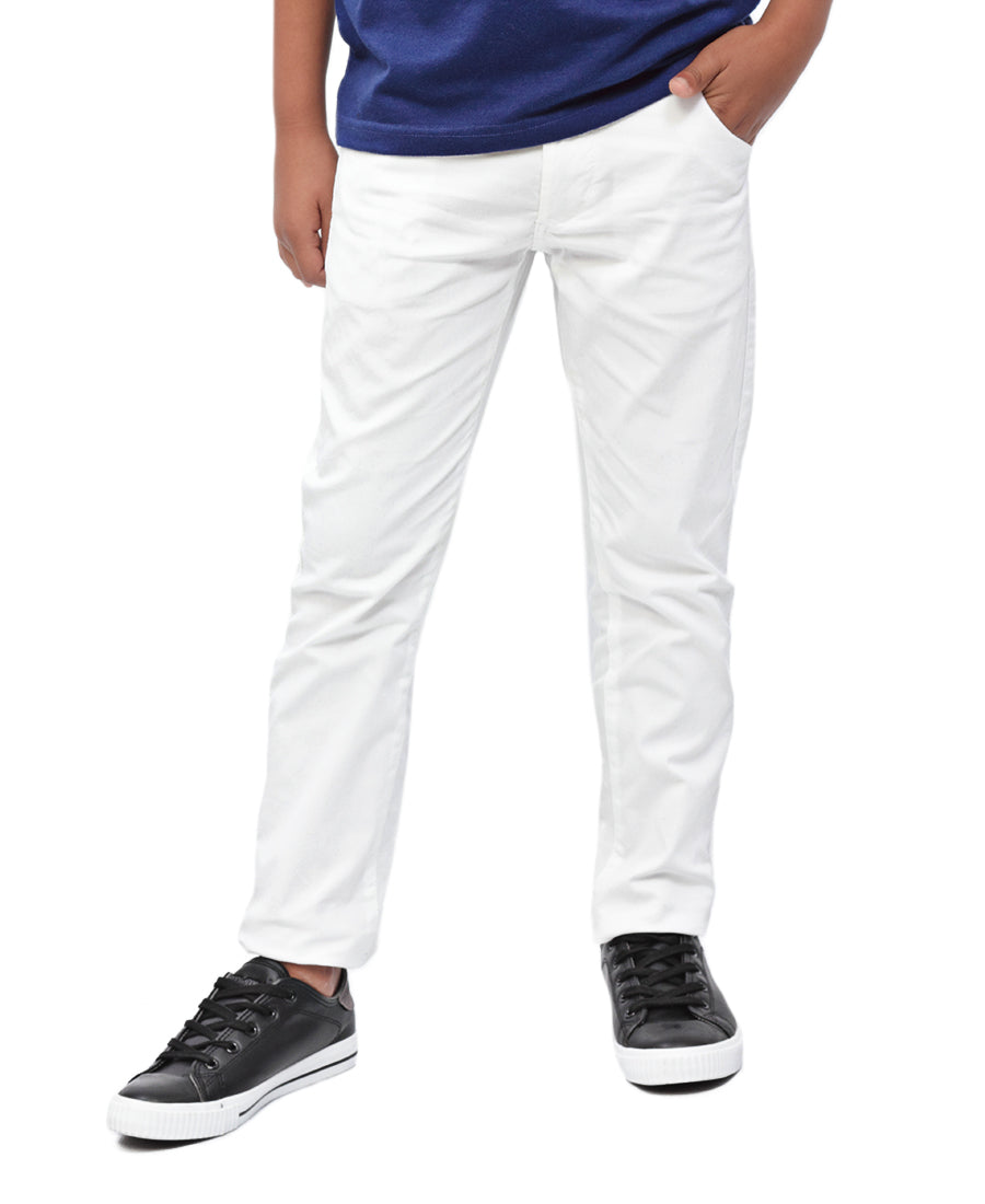 Boys Chino Pants - White