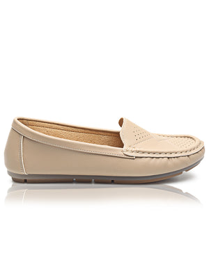 Ladies' Loafers - Taupe