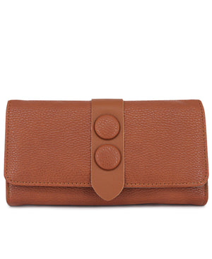 Fold Over Wallet - Tan