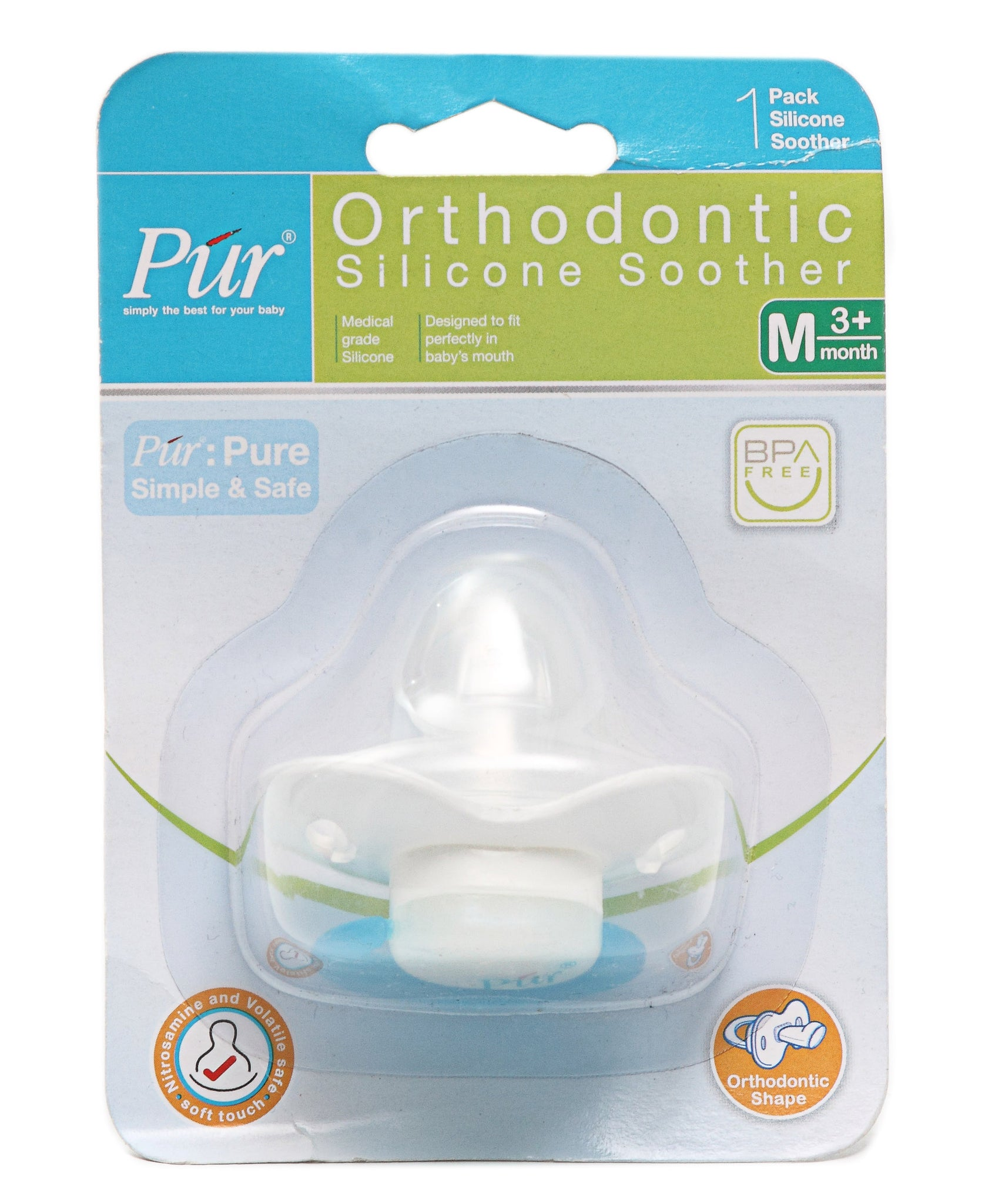 Infants Silicone Soother - Blue