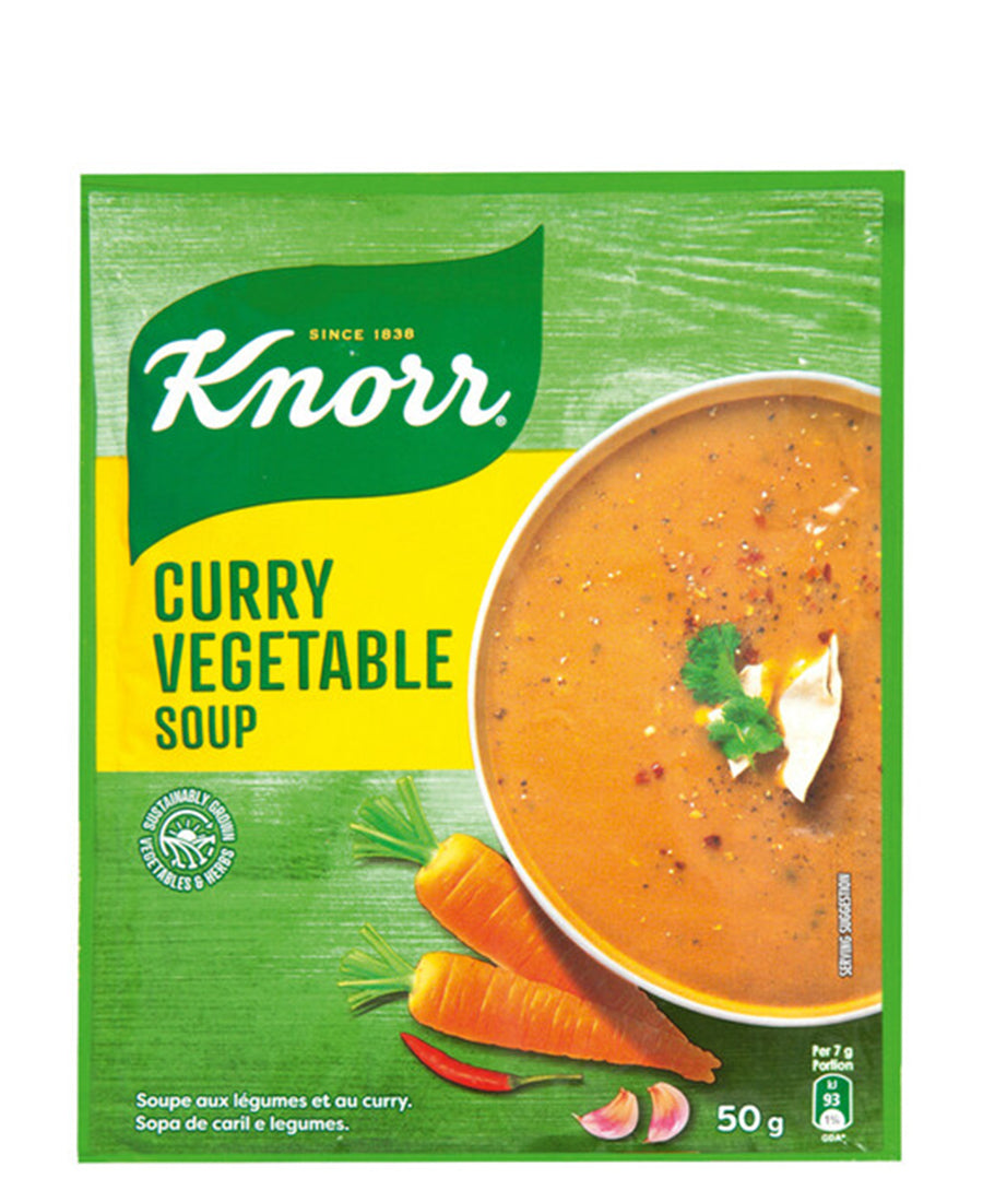 Knorr 50g Curry Veg Soup - Green
