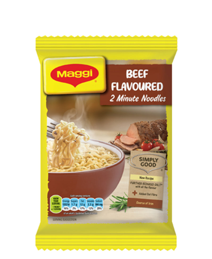 2 Minute Beef Noodles 73g - Yellow