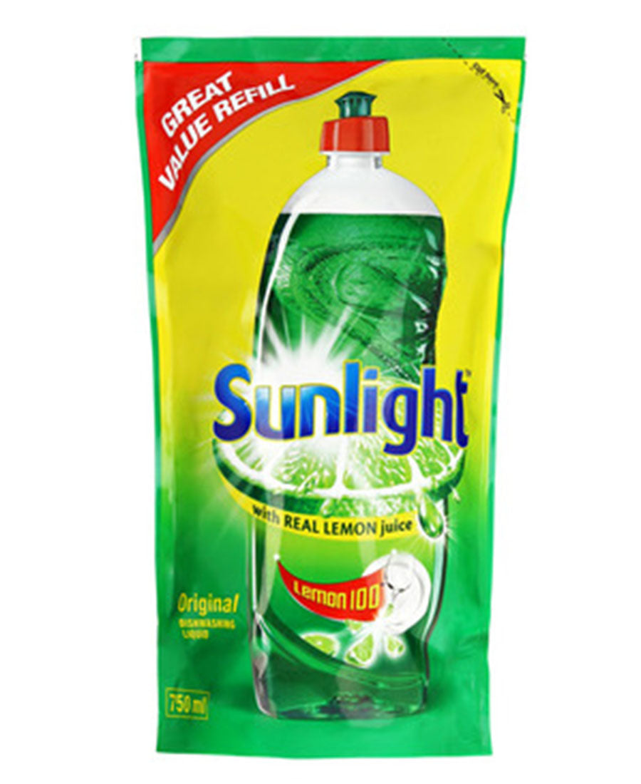 Sunlight Liquid 750ml Refill Pouch - Green