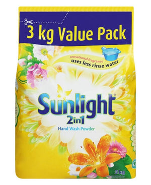 Sunlight Washing Powder 3Kg - Yellow
