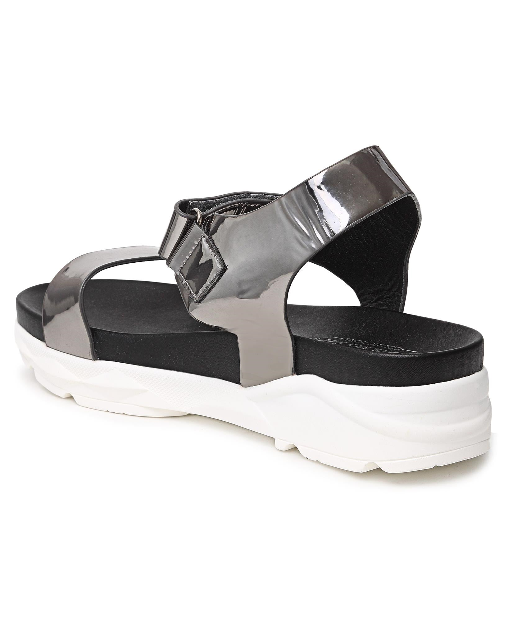 Chunky Sandals - Pewter