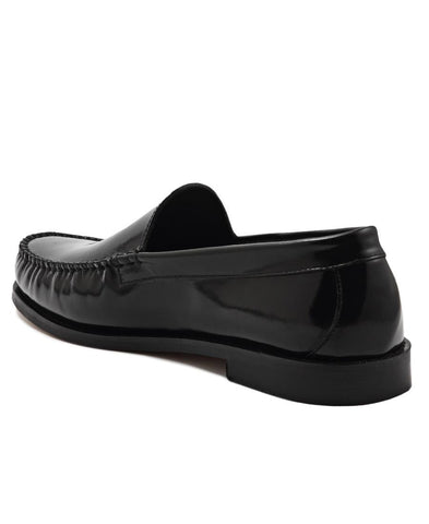 Hi Shine Moccasin - Black