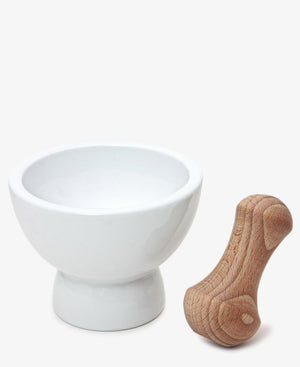 Double Mortar & Pestle - White