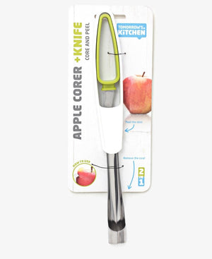 Apple Corer & Knife - White