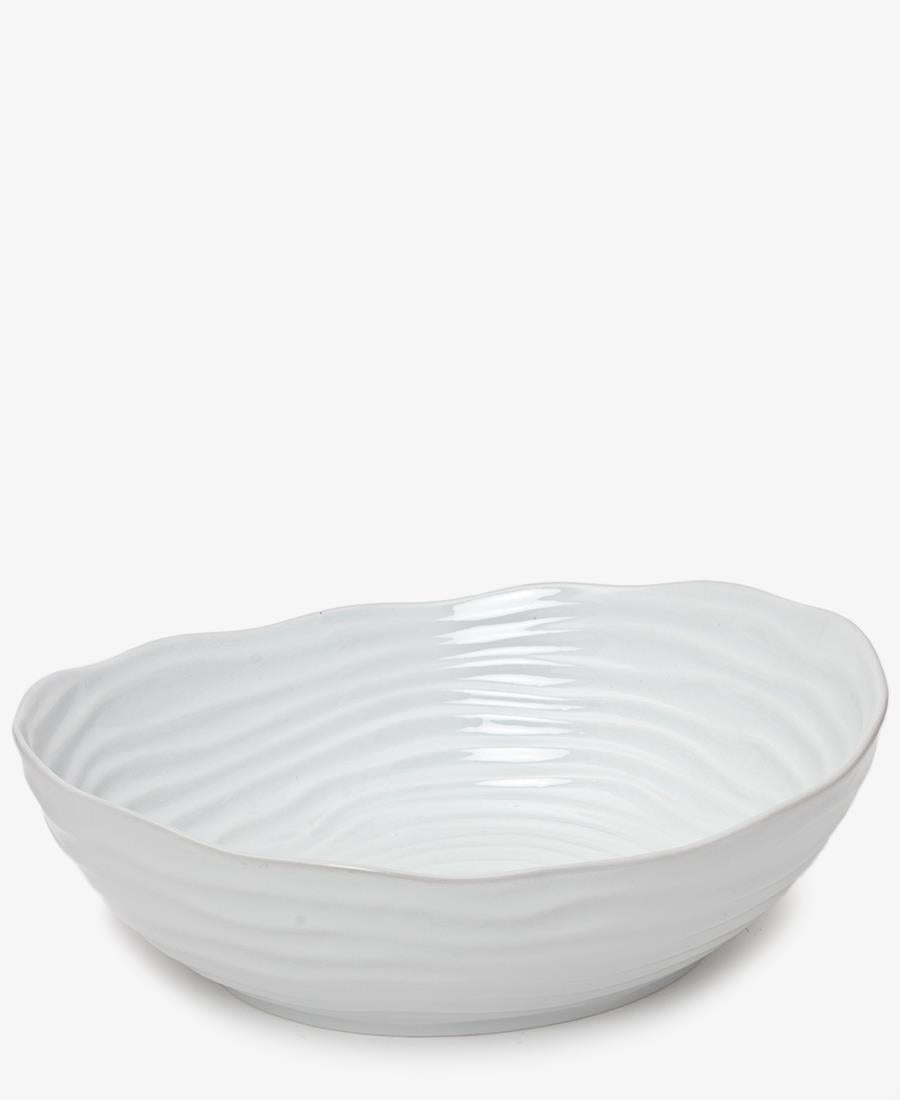Eetrite 30cm Ripple Salad Bowl - White
