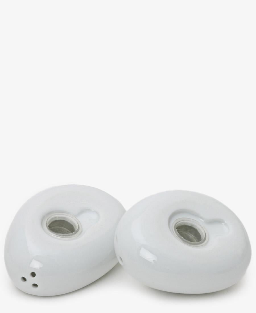 Eetrite Pebble Salt & Pepper Shakers - White