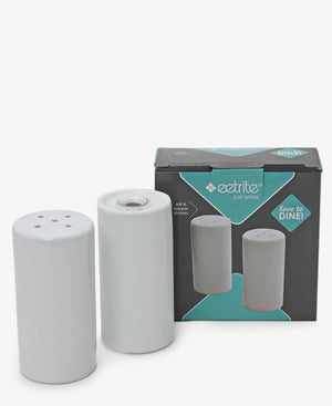 Eetrite Cylinder Salt & Pepper Shakers - White