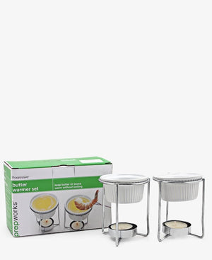 Progressive Ceramic Butter Warmers - Silver
