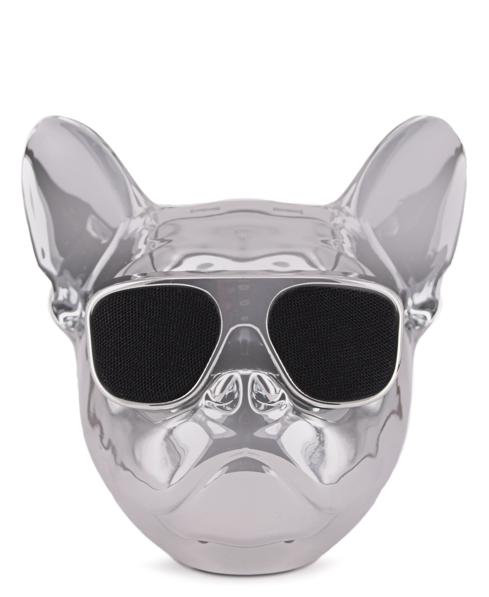 Dog Head Bluetooth Speaker - Silver