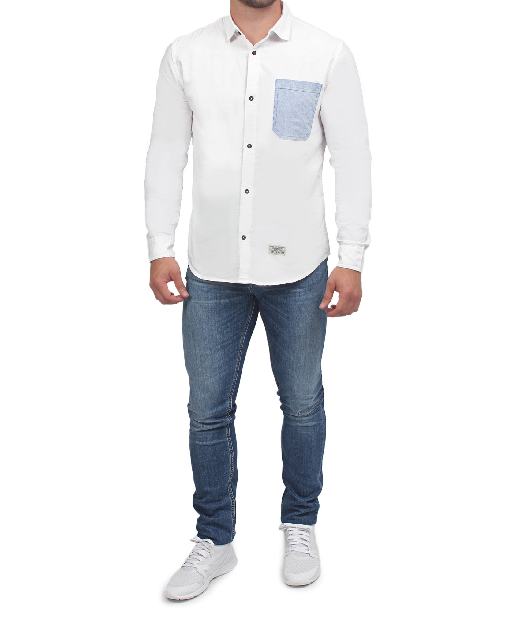 Denim Shirt - White