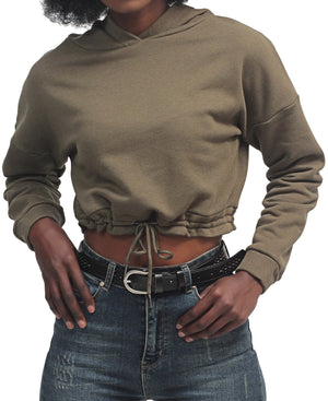 Cropped Sweater - Olive