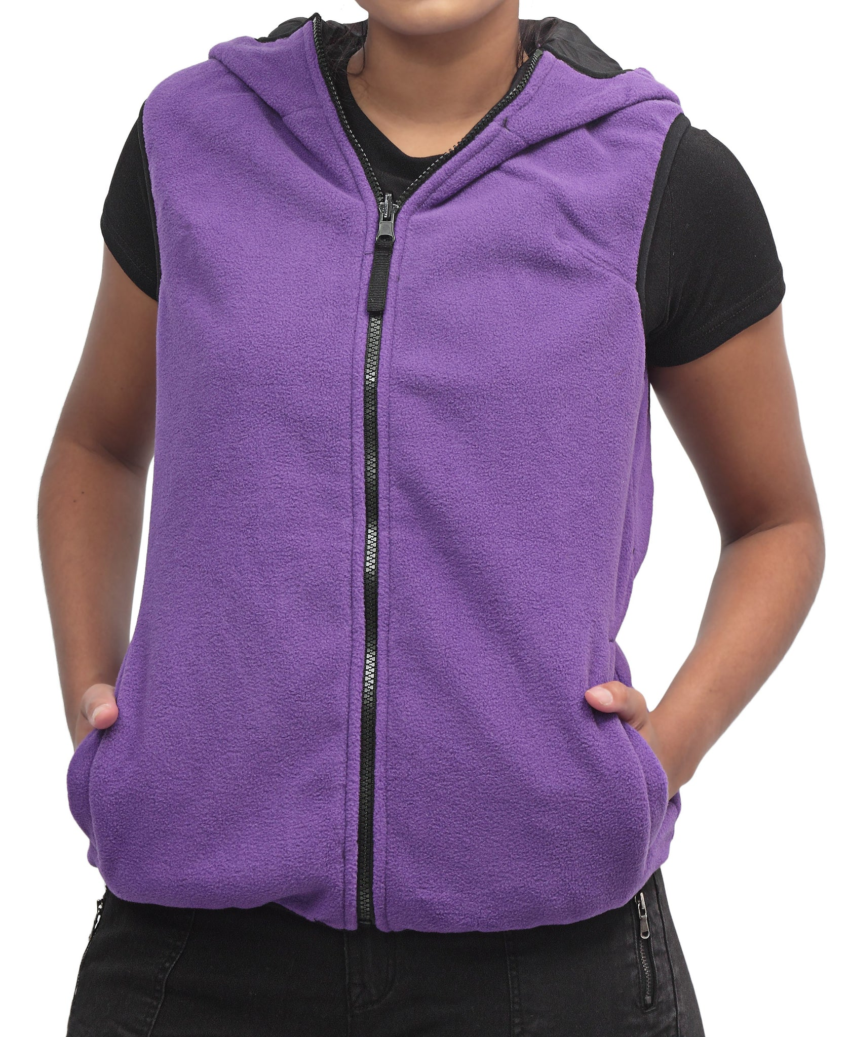 Sleeveless Jacket - Purple