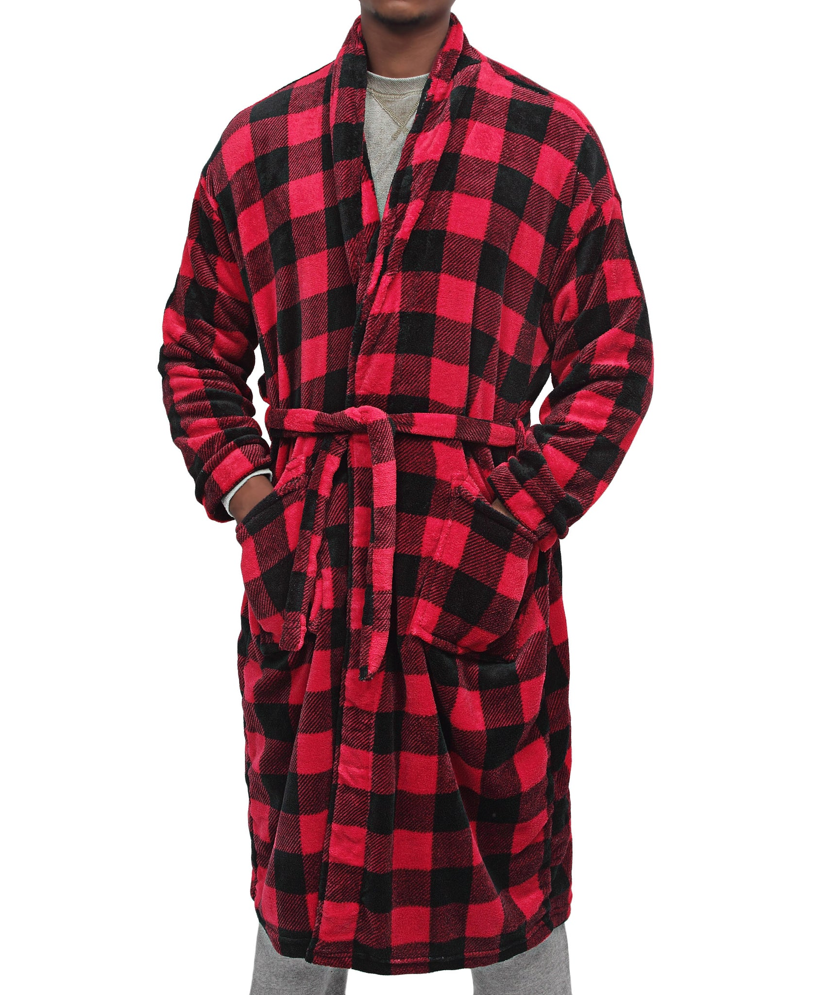 Men's Bathrobe - Red