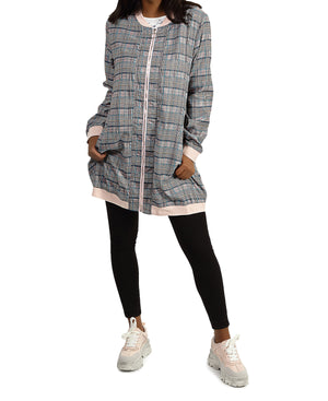 Check Lightweight Jacket Set - Pink